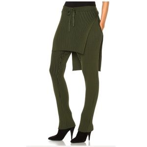 Baja East Cotton Wide Rib Pant in Olive NWOT 3